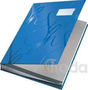 Aláírókönyv Leitz A4 18 részes kék 57450035
