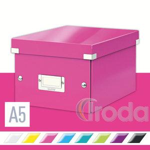 Tárolódoboz Leitz Click&Store A5 méretű, rózsaszín 60430023