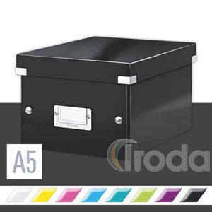 Tárolódoboz Leitz Click&Store A5 méretű, fekete 60430095