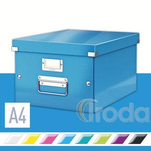 Tárolódoboz Leitz Click&Store A4 méretű, kék 60440036