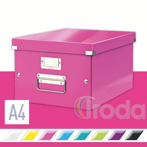 Tárolódoboz Leitz Click&Store A4 méretű, rózsaszín 60440023