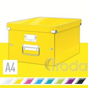 Leitz CLICK&STORE A4 méretű doboz, sárga 60440016