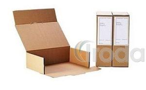 Irattári archiváló doboz 'hagyományos' A4 'Kimetszett' belméret:375x250x115mm (23 B)