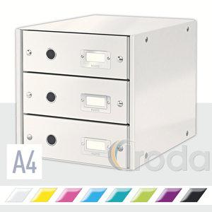 Irattároló Leitz Click&Store 3-fiókos, fehér 60480001