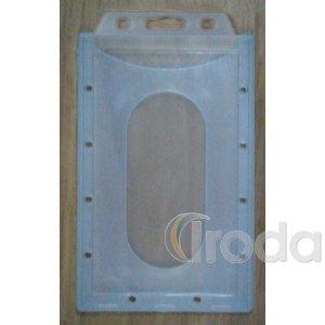 Proximity álló kártyatok, zárt, áttetsző, belső mérete 85x54mm
