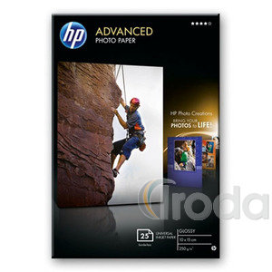 Fotópapír HP Fényes, tintasugaras 10x15cm/250gr. 25lap/csom Q8691A