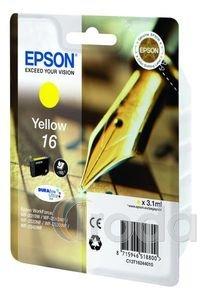 Tintapatron Epson T1624 (No.16) eredeti, sárga