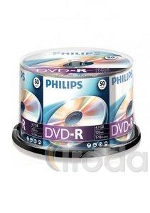 DVD-R PHILIPS 4,7Gb 16x, hengeres, 50db/henger