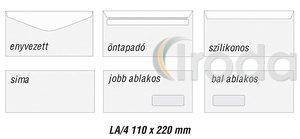 Boríték LA4 szilikon 110x220mm