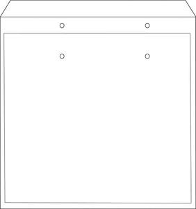 Légpárnás tasak CD-hez szilikon fehér 180x165mm