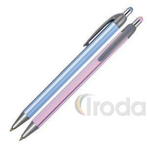 Golyóstoll Spoko 0118 csíkos tolltest, kék íráskép