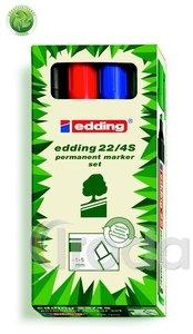 Edding 22/4S ECOLINE 4 db-os permanent marker készlet