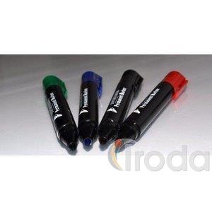 Permanent marker vastag 1,5-3mm kerek végű kék