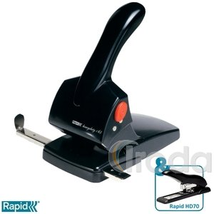 Lyukasztó Rapid HDC65 Supreme fekete max. 65 laphoz 20922601