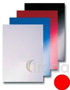 Spirál hátlap Reco piros matt bőrutánzatú A4 250gr 100db/csom