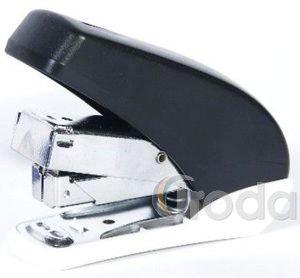 Tűzőgép BR967könnyített tűzés, fekete, fém/műanyag test, kapacitás: 20lap, 24/6, 26/6