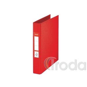 Gyűrűskönyv Esselte Standard A5 3,5cm 2-gyűrűs VIVIDA piros 47683