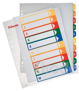 Regiszter Esselte A4 1-5 nyomtatható 100211