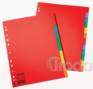 Elválasztólap Esselte Standard A4 karton 5-részes 100199