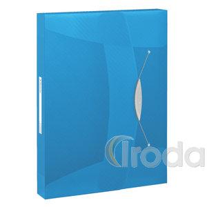 Gumis mappa Esselte jumbo műanyag áttetsző VIVIDA kék 624047