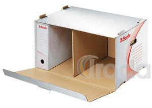 Archiváló konténer Esselte boxy előre nyíló tetővel fehér 128910
