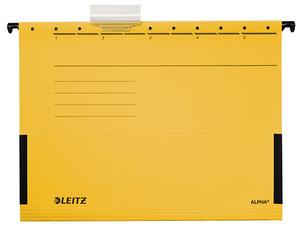 Függőmappa Esselte Alpha oldalt zárt sárga 19860015