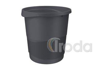 Papírkosár Esselte Europost 14 literes, VIVIDA fekete 623952