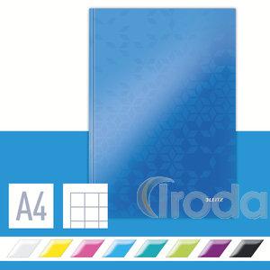 Lakkfényű WOW beírókönyv A4, kockás, kék 46261036