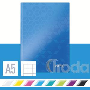 Lakkfényű WOW beírókönyv A5, kockás, kék 46281036