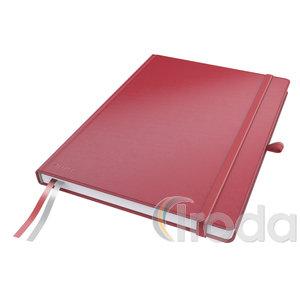 Leitz Complete jegyzetfüzet A4, kockás, piros 44710025