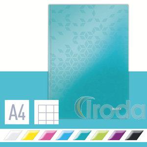 Lakkfényű WOW beírókönyv A4, kockás, jégkék 46261051