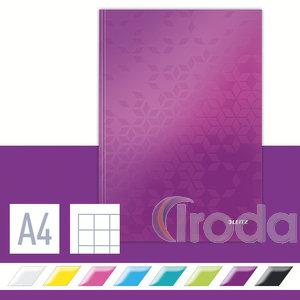 Lakkfényű WOW beírókönyv A4, kockás, lila 46261062