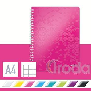 WOW spirálfüzet, A4, kockás, rózsaszín 46380023