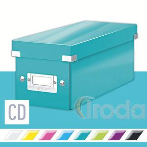 CLICK&STORE CD-doboz, lakkfényű, jégkék 60410051