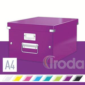 CLICK&STORE A4 méretű doboz, lila 60440062