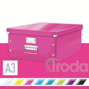 CLICK&STORE A3 méretű doboz, rózsaszín 60450023