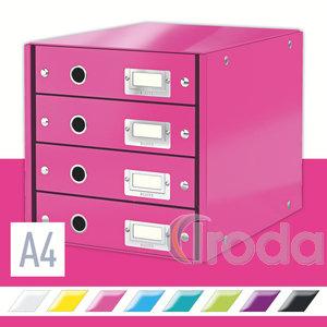 CLICK&STORE 4-fiókos irattároló, rózsaszín 60490023