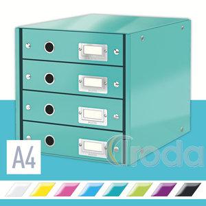 CLICK&STORE 4-fiókos irattároló, jégkék 60490051