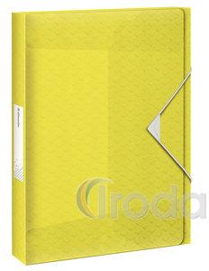 Esselte Colour'Ice Jumbo Plus gumis mappa, 40mm sárga