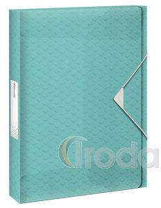 Esselte Colour'Ice Jumbo Plus gumis mappa, 40mm kék