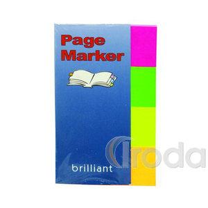 Jelölő címke 4szín x 40-50lap 20x50mm papír lapok