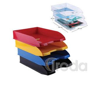Irattálca műanyag, áttetsző kék egymásra helyezhető.