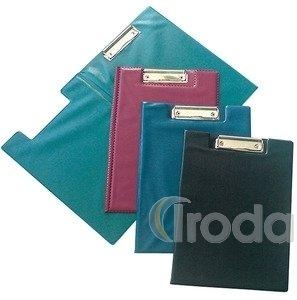 Felírótábla PVC A4 fedeles csíptetős bordó
