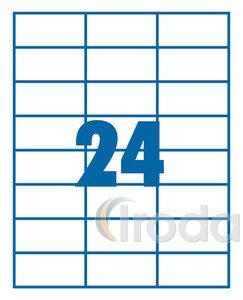 Etikett 70x37mm 24 címke/lap 100 ív/doboz