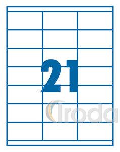 Etikett 70x42,3mm 21 címke/lap 100 ív/doboz