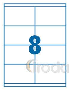 Etikett 105x71mm 8 címke/lap 100 ív/doboz