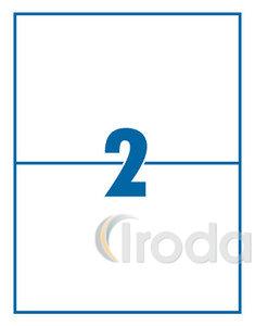 Etikett 210x148mm 2 címke/lap 100 ív/doboz