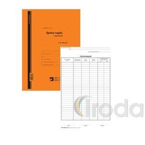 Pátria Építési napló 25x2 lapos tömb + 9db 2 lapos garnitúra A4 B.ETI.820/UJ/V
