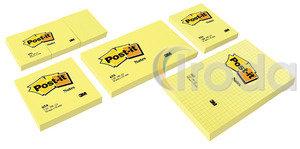 Öntapadós jegyzettömb 76x127 sárga 100lap 3M Post-it