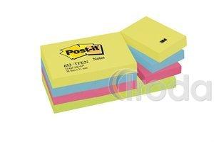 Öntapadós jegyzettömb 38x51 energikus színek 100lap 3M Post-it 12db/csomag